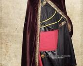 CUSTOM ORDER Mage set: cloak  belt  tunic, Medieval Fantasy Larp Wiccan
