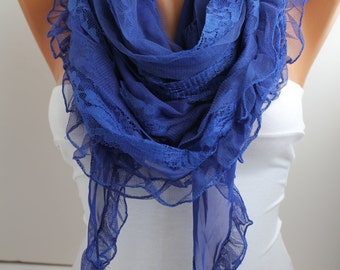 NEW- Cobalt Blue Scarf  Shawl
