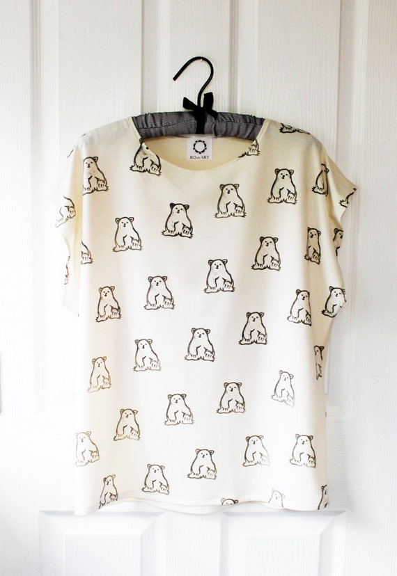 Little Bear Batwing Top -  bone jersey
