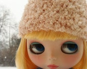 Soft and Fuzzy Blush Pink Mohair Hat for Blythe