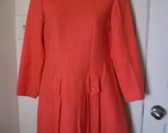 On Sale CORAL CRUSH Vintage Mod Mini dress