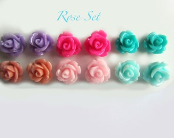 Rose Earring Set