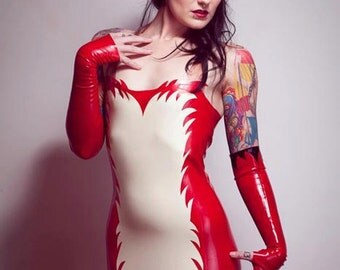 Latex Fox Strapless Mini Dress