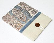 Paris map iPad Case, iPad Sleeve . Galaxy Tab 2 Sleeve . Nexus 10 Cover . Custom Tablet Case