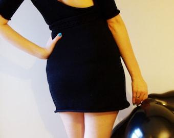 Little black dress Open back dress Sping Summer dress (id002)