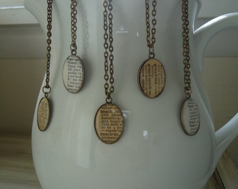 Custom Pendant Dictionary Word Personalized