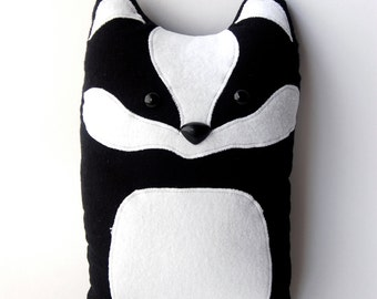 Badger Woodland Plush Stuffed Animal Pillow - Nellie