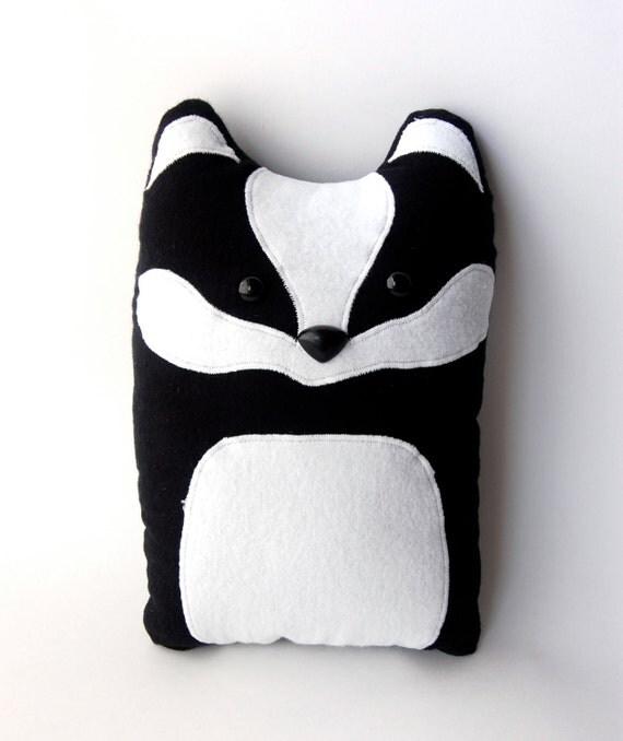 Badger Woodland Plush Stuffed Animal Pillow - Nellie