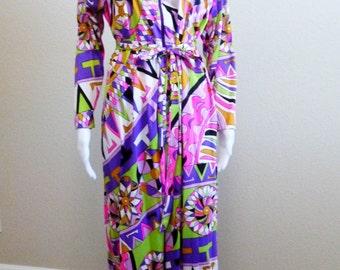 Mod Maxi Gown Large - Op Art Saks Fifth Avenue Gown Large - Mod Caftan