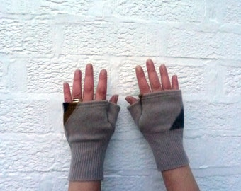 Mitts pure wool gloves fingerless mittens winter gloves short mitts teens gloves handmade mittens wool fingerless gloves eco-friendly texter