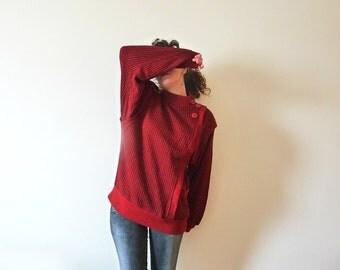 Retro sweater 80s NOS Vintage Sweater.  Geometric vintage sweater. Retro sweater