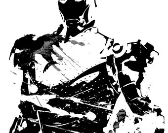 Iron Man Grunge Ink Print
