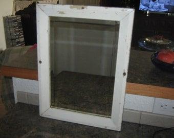 1920s Framed Beveled Mirror