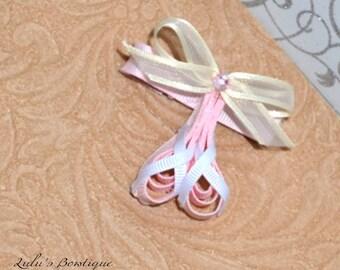 Pink Ballerina Shoes Sculpture Hair Clip