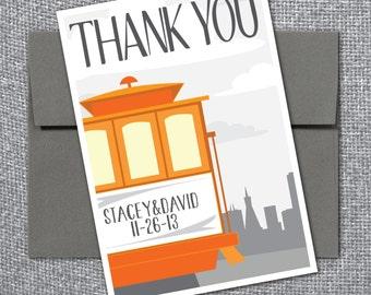 Printable Thank You Card - San Francisco Skyline Theme