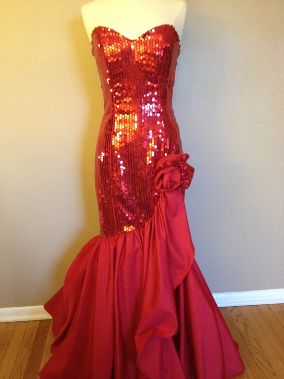 Red Vintage Prom Dresses Vintage Nadine Prom Dress Red