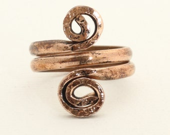 Aged copper ring