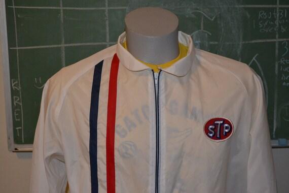 vintage 70s stp racing zip up jacket mens usa made apparel