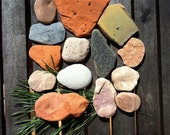 Sea Stones, Sea Ceramics, Polished by the Baltic sea, Beach Pottery, Beach stone,Beach Finds, Sea Pottery