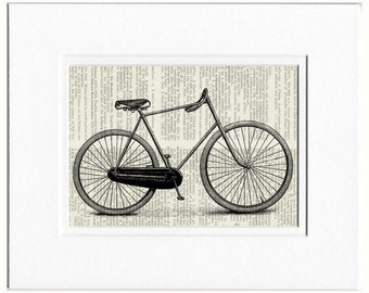 bike VI print on book page