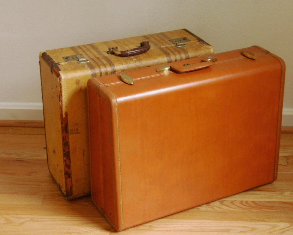 Vintage samsonite suitcase luggage style 4655 1950s faux - Vintage suitcase ...