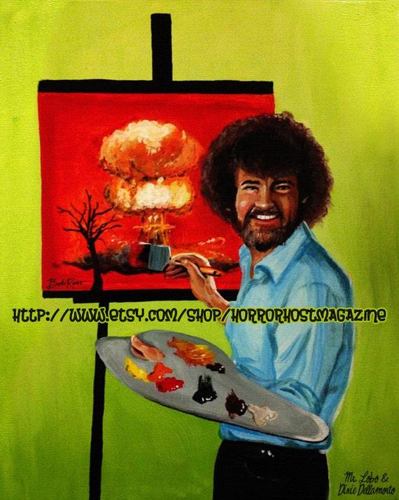 "Items similar to Bob Ross ""Happy Little Cloud"" 8x10 Print ..."