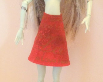 Monster High Ever After High Clothes Handmade Red Skirt (S1601)
