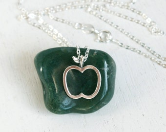 Sterling Silver Apple Necklace