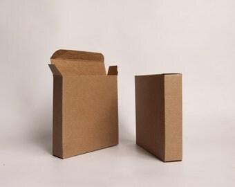 10- 4 1/2 x4 1/2 x 1 inch Kraft Gift Boxes -Kraft Box