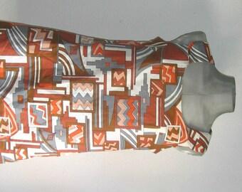 SALE vintage 70s  aztec print mini dress