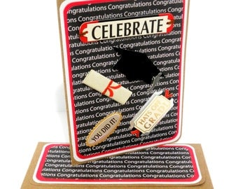 CLEARANCE- Graduation Congrats Card with Matching Embellished Envelope