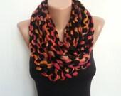 Multicolor cowl, scarf, necklace, infinity scarf, neck warmer