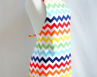 Mommy's Apron - Adult Size Apron - Cooking Apron - Art Apron - Chevron Apron