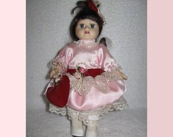 "8"" Victorian Little Girl Doll The Brass Key Inc."