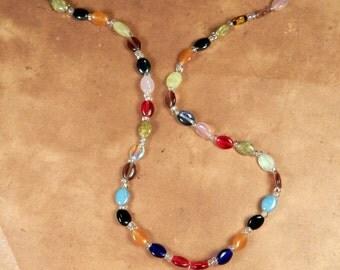 Long Labradorite Rainbow GUINEA PIG Necklace