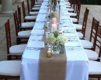 Burlap Table Runner, Table Runner, Country Wedding Decorations, Burlap Table Decor, Burlap Runner, Table Runner, Rustic Barn Wedding Decor