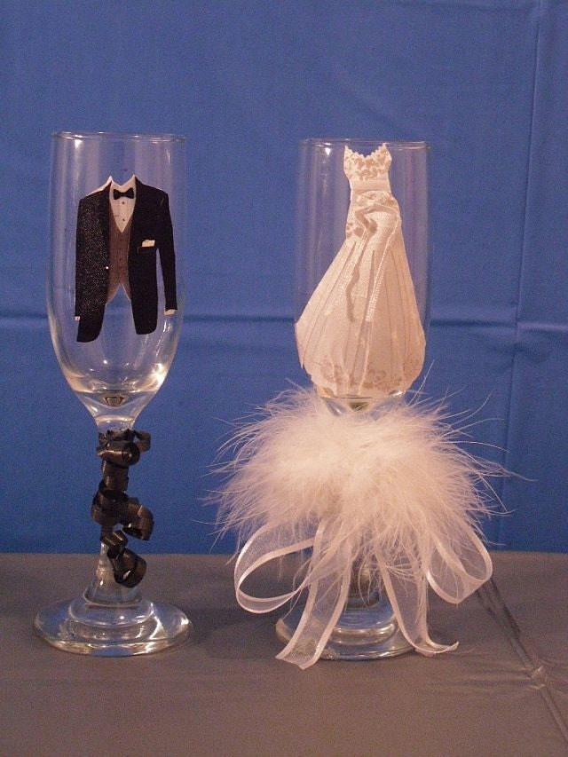 Wedding Champagne Flutes Bride And Groom Champagne Glasses
