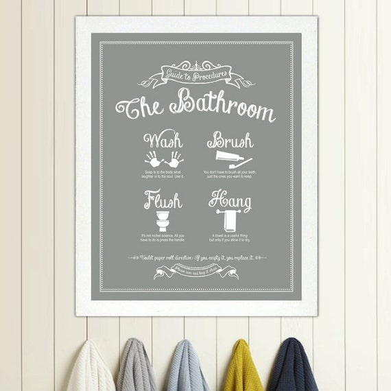 Vintage Wall Decor For Bathroom : Guide to procedures the bathroom print rules