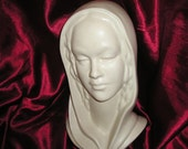 Divine LG. Madonna,Virgin Mary Bust/Head Vintage Classic Religious Devotional Sculpture,Icon