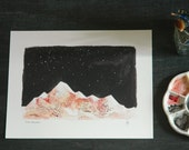 Pink Mountains 8x10 art print