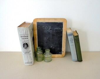 Slate chalkboard child's school slate with great patina