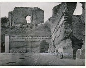 Roman Baths Caracalla  Rome Italy 1890 Vintage Victorian Era Ancient Architecture Rotogravure Illustration to Frame