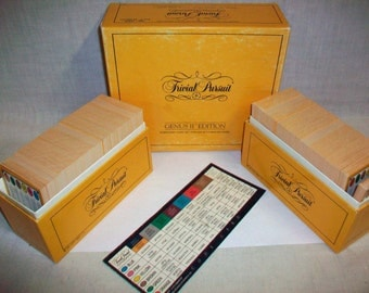 Trivial Pursuit Genius II Edition Subsidiary Card Set For Use With Master Game 1984