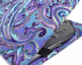 Kindle Cover - made to order Purple Paisley - Kindle Voyage, Paperwhite, Touch - Nook Tab 4, kobo touch eReader cover case