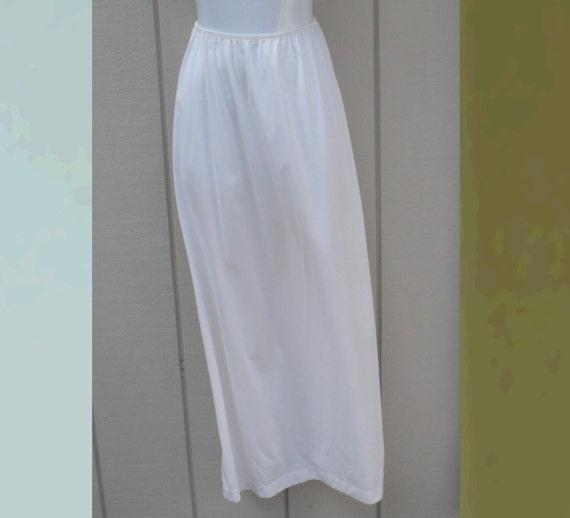 1960s maxi white skirt slip vintage sears 60s half by