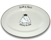 Wedding Cake Personalized Guest Signature Platter