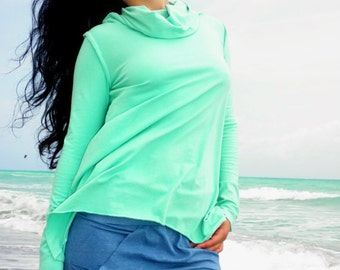 The Sand Dollar Top in Organic Hemp Jersey. Made to order