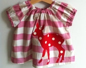 Pink Check Deer Blouse