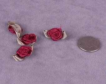 SALE 15 Red Satin Roses (SFR-15)