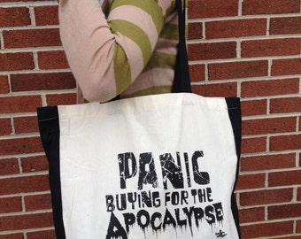 Panic Buying For the Apocalypse Cotton Tote Bag